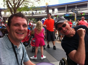 Michael and his dad at Disney World