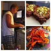 Dana's stepdad can cook!