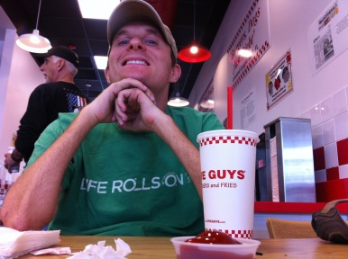 Michael loves Five Guys!