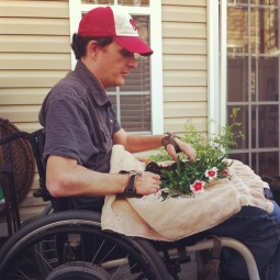 Michael loves gardening